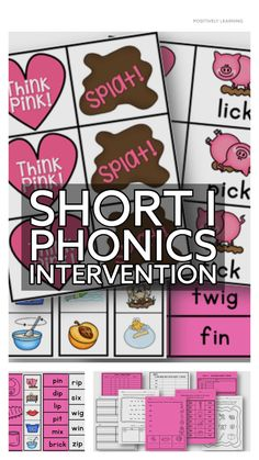 Short I Activities for your phonics small groups and literacy centers! Hands-on tasks, writing, plus data collection - designed for targeting phonics skills.