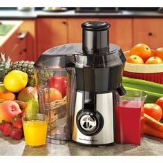 Big Mouth Juice Extractor by Hamilton Beach® helps jump-start your new health kick! Green juice, anyone?