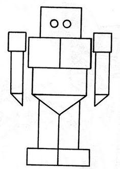 dibujo con las figuras geometricas  Buscar con Google  Gomets