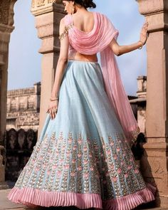For order booking email Indian Lehenga, Lehenga Choli, Anarkali, Indian Wedding Outfits, Indian Weddings, Indian Outfits, Embroidery Suits Design, Designer Bridal Lehenga, Lehnga Dress