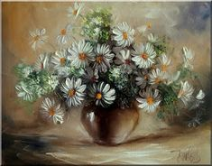 Malarstwo i Fotografia - Ewa Bartosik: Kwiaty Polne Poppies, Sunflowers, Still Life, Daisy, Plants, Artists, Canvases, Paintings, Oil