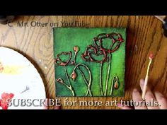 How to PAINT 3D POPPIES with HOT GLUE TEXTURE (YouTube)