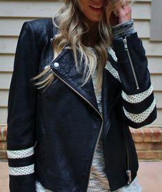 Moto Athletic Leather Jacket