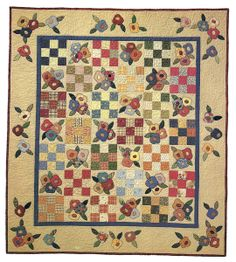 Patches & Posies quilt book by Black Mountain Needleworks.