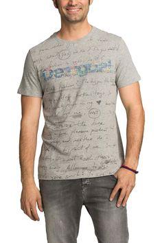 Camiseta gris para hombre | Desigual Marcos