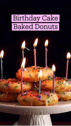 Fun Baking Recipes, Donut Recipes, Dessert Recipes, Cooking Recipes, Delicious Desserts, Yummy Food, Cupcakes, No Bake Cake, Love Food