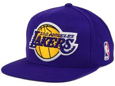 brand new ca678 3e929 Los Angeles Lakers Mitchell   Ness Snapbacks, Lakers Snapback Hats, Mitchell    Ness Flat Billed Hat
