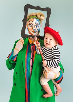 Picasso and Painting Mommy and Me Halloween Costume - The House That Lars Built