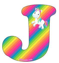 J Alphabet, Alphabet Letters Design, Alphabet Style, Letter Art, Unicorn Birthday Parties, Unicorn Party, Unicornios Wallpaper, Unicorn Rooms, Homemade Dolls