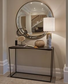 Detail from another entrance hall in a surrey project