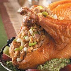 Pear Stuffing for Turkey Recipe_    I find this to be a delicious change from the usual Southern-style dressing served around here. I found the recipe in one of my mother's old cookbooks.