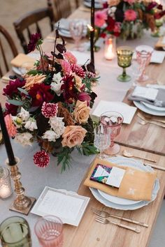 Burgundy Wedding Centerpieces - Max and Friends Photography