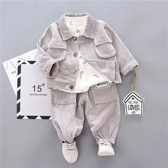 Toddler Kids Child Baby Boy Girl Casual Long Sleeve Coat Shirt Outfit Clothes US - Toddler Kids Child Baby Boy Girl Casual Long Sleeve Coat Shirt Outfit Clothes US Source by - Outfits With Hats, Warm Outfits, Baby Boy Outfits, Casual Outfits, Suit Shirts, Baby Shirts, Tied T Shirt, Kids Pants, Baby & Toddler Clothing