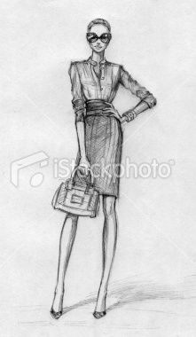 Business woman (black-and-white) Royalty Free Stock Photo