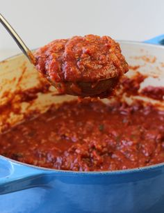 American Heritage Cooking | Red Wine Basil Pasta Sauce | http://americanheritagecooking.com  Easy, healthy, and yummy!