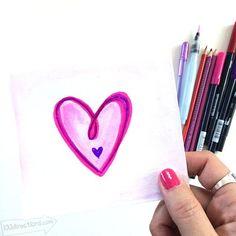 Make your own hand-drawn Valentine Card