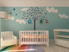 """Embrace nature in your child's room with our reusable tree stencil. This stunning design creates a eye-catching accent perfect for nurseries and play rooms! Stencil size: 38""""W x 59""""H NOTE: This is a r"""