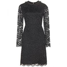 Marc by Marc Jacobs Isabella Lace Dress ($625) ❤ liked on Polyvore featuring dresses, black, black cocktail dresses, lacy dress, black dress, lace dress and kohl dresses