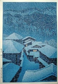 Kawase Hasui (1883-1957) Hatakudari in Shiobara From art-is-art-is-art.tumblr.com