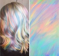 Holographic hair – soft pastel metallic holo opal pallet ~~ the hottest new hair color trend   CircleTrest