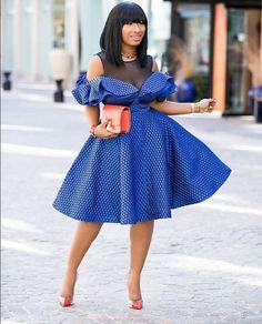 Lesotho Seshoeshoe Designs 2018 : Beautiful Shweshwe Dress DesignsLatest Ankara Styles and Aso Ebi Styles 2020 Latest African Fashion Dresses, African Print Dresses, African Print Fashion, Africa Fashion, African Dress, African Attire, African Wear, Seshoeshoe Designs, Shweshwe Dresses