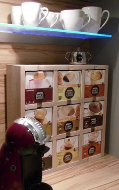 """Küchenregale - Regal """"Genuss-Würfel"""" für Dolce Gusto... - ein Designerstück von Glykolyse bei DaWanda"""