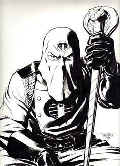 Cobra Commander G.I. Joe A Real American Hero Marvel Hasbro original art
