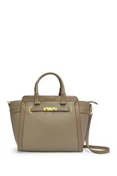 Taupe Double Lock Tote