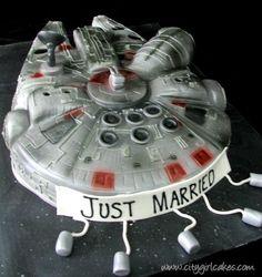 Coolest wedding cake ever!