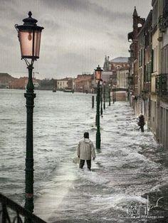 Venice - Too close to the edge - l'acqua alta di Venezia Venice Travel, Italy Travel, Rome Florence, Places To Travel, Places To Visit, Italy Art, Paris, Bologna, Italy Vacation