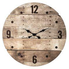 Orologio in legno D 82 cm CÉVENNES