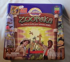 Cranium Zooreka Build Your Zoo Game Collector Tin Complete Family Board Game #Hasbro