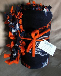 denver broncos fleece fabric | FREE SHIPPING Denver Broncos NFL Football Blue Orange Fleece Blanket ...