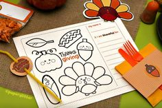Free Thanksgiving kids table printables and 31 FREE Thanksgiving crafts on Frugal Coupon Living.