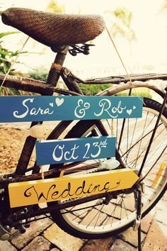 beach cruisers wedding theme