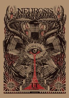 Never heard of the designer The 13th Sign, though I must say this #Neurosis #gigposter is a nice introduction!