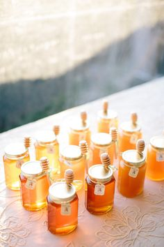 #honey #favors   Daniel J Photography - See the wedding on SMP Weddings: http://www.stylemepretty.com/2013/08/20/private-estate-farm-wedding-from-brilliant-event-planning/