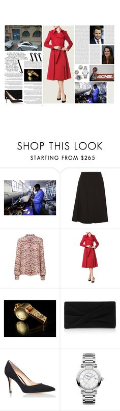 """""""Untitled #3082"""" by duchessq ❤ liked on Polyvore featuring Whiteley, Derek Lam, Lena Hoschek, Reiss, Gianvito Rossi and Chopard"""