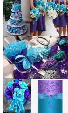 Turquoise Purple Wedding Theme Is An Elegant Way To Add Style And Sophistication Your Envoke A Feeling Of Bright Color Modern Design With
