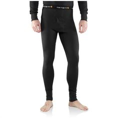 Carhartt® Base Force™ Cold Weather Weight Long Underwear Bottoms, Black