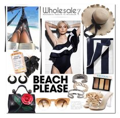"""wholesale7"" by bellamonica ❤ liked on Polyvore featuring Serena & Lily, True Craft, Palm Beach Jewelry and Bobbi Brown Cosmetics"