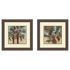 Palms 2 Piece Framed Painting Print Set