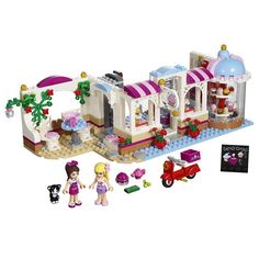 23.36$  Buy here - http://ali7d3.shopchina.info/go.php?t=32789940832 -  444Pcs bricks Friends Heartlake Cupcake Cafe Building Blocks Set Model Brick Girl Toy Compatible with Lego Lepin 23.36$ #buyininternet