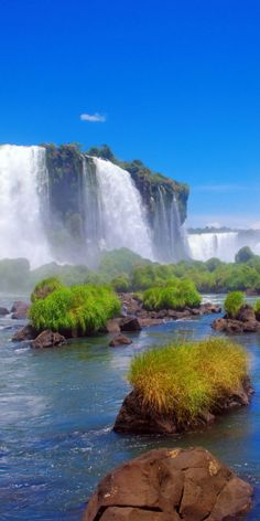Iguazu Falls on the border between Brazil and Argentina Vacation Places, Places To Travel, Places To See, Iguazu Falls, Brazil Travel, Beautiful Beaches, Beautiful Waterfalls, Beautiful Landscapes, Beautiful World