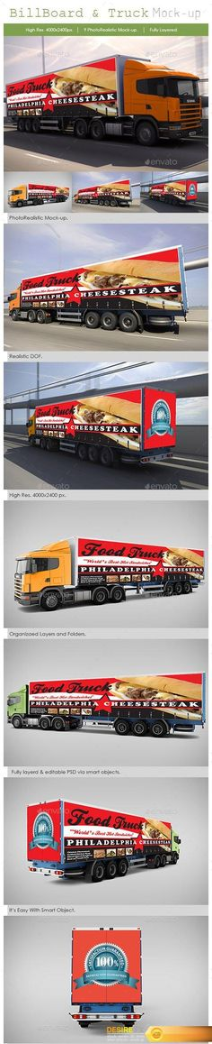 Billboard and Truck Mock-Up - Graphicriver 5310583 http://www.desirefx.me/billboard-and-truck-mock-up-graphicriver-5310583/