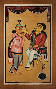 Uttam Chitrakar - Babu and Attendant | The Story by Saffronart