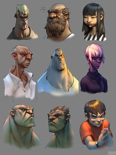 FreestylesFaces01, Gray Shuko on ArtStation at http://www.artstation.com/artwork/freestylesfaces01