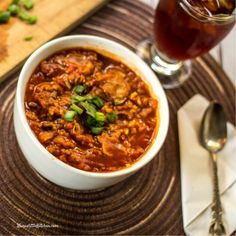 Low Fat Cabbage Roll Soup is an E soup that is so rich and satisfying you'll think you're eating a fattening meal once you pair it with on plan bread.