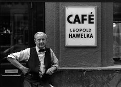 Kaffeesieder, Leopold Hawelka, Wien im Sommer 1989