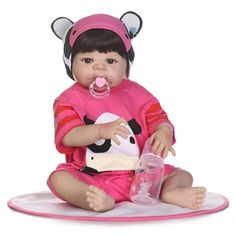82.88$  Watch now - http://aliaew.shopchina.info/go.php?t=32808319452 - NPKCOLLECTION 55cm Full Silicone Reborn Baby Doll Toy 22inch Newborn Girl Babies Doll With Magnetic Mouth Play House Bathe Toy 82.88$ #bestbuy